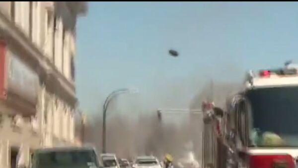 Manhole Cover Goes Flying on Live TV - Sputnik International