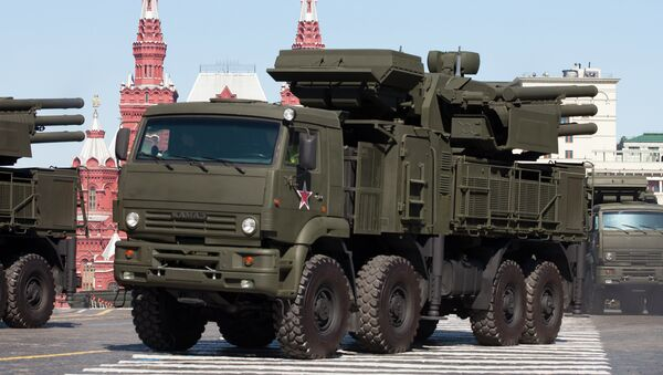 Russian Pantsir S1 air defense system - Sputnik International