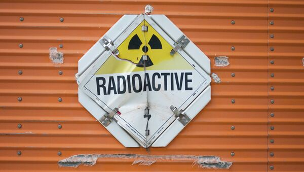 Radioactive sign on a truck - Sputnik International