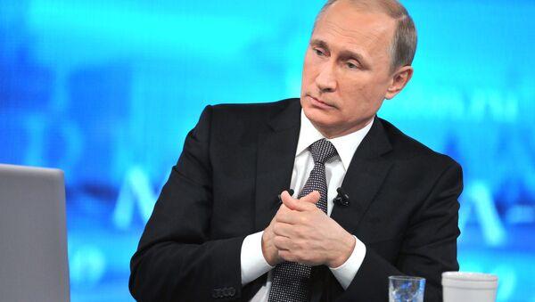 Live broadcast with Vladimir Putin - Sputnik International