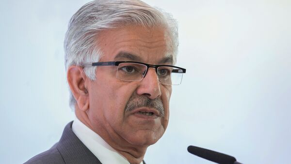 Pakistan's Defense Minister Khawaja Muhammad Asif - Sputnik International