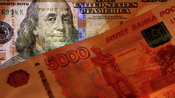 Banknotes of the USA and Russia - Sputnik International