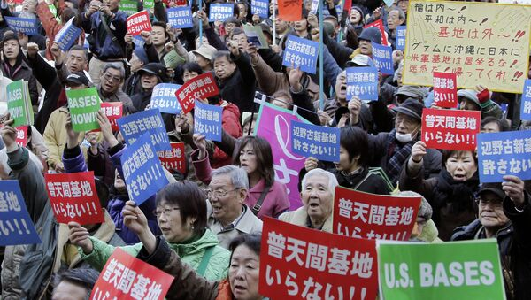 Okinawa Residents Protest Presence of US Military Bases - Sputnik International