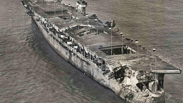 An aerial view of ex-USS Independence - Sputnik International