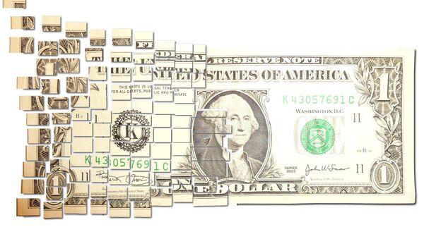 Torn & Cut One Dollar Note - Sputnik International