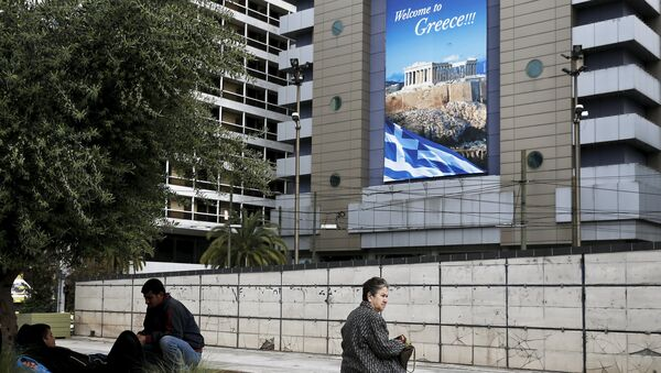 People are seen on Omonia square in Athens - Sputnik International