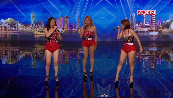 Singing trio Miss Tres has big surprise | Asia's Got Talen - Sputnik International