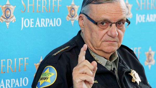In this Dec. 18, 2013, file photo, Maricopa County Sheriff Joe Arpaio speaks at a news conference at Maricopa County Sheriff's Office Headquarters in Phoenix - Sputnik International