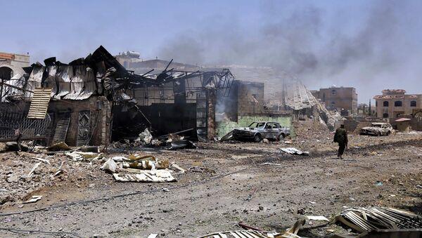 Aftermath of coalition airstrikes on Yemen - Sputnik International
