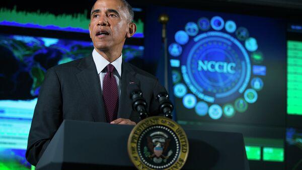 President Barack Obama speaks at the National Cybersecurity and Communications Integration Center in Arlington - Sputnik International