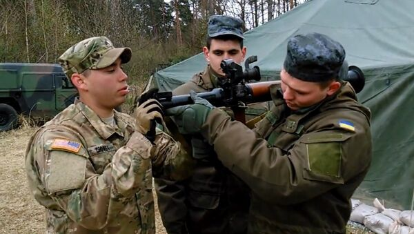 American soldiers in Ukraine - Sputnik International