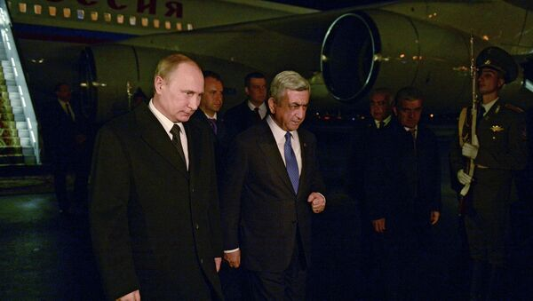 Working visit of the president of Russia V. Putin to Armenia - Sputnik International