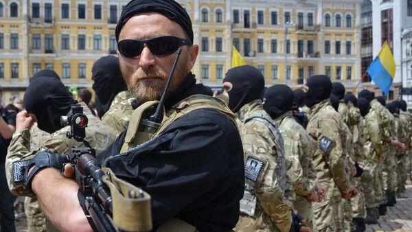 Recruits sworn in for Azov Battalion in Kiev - Sputnik International