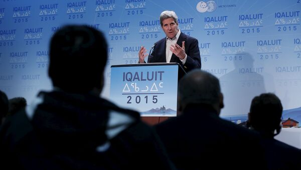 U.S. Secretary of State John Kerry speaks during a news conference at the Arctic Council ministerial meeting in Iqaluit, Nunavut - Sputnik International