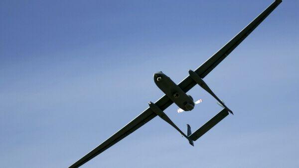 An Israeli army Heron unmanned drone aircraft - Sputnik International