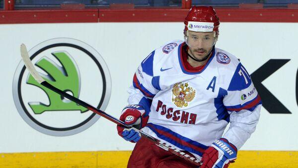 In this May 13, 2013 file photo, Russia's Ilya Kovalchuk celebrates his goal during the 2013 Ice Hockey World Championships match against Austria in Helsinki - Sputnik International