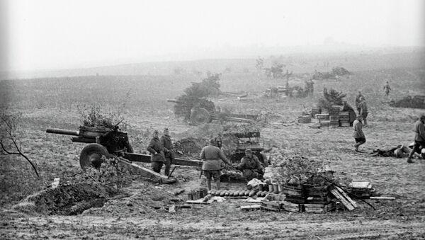Soviet artillery forces before general passing to the Berlin offensive. April, 1945. - Sputnik International