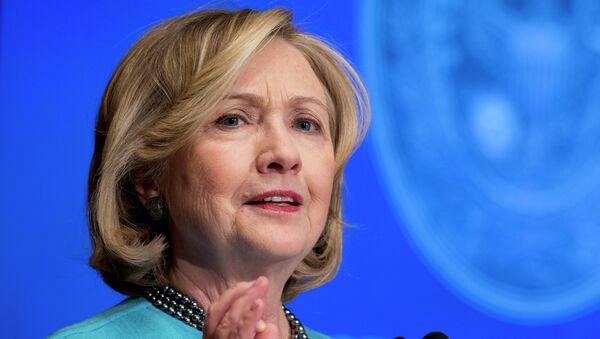 Former Secretary of State Hillary Rodham Clinton speaks in Gaston Hall at Georgetown University in Washington - Sputnik International