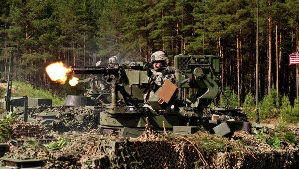 Gunner.The exercise spans multiple locations in Lithuania, Latvia and Estonia - Sputnik International