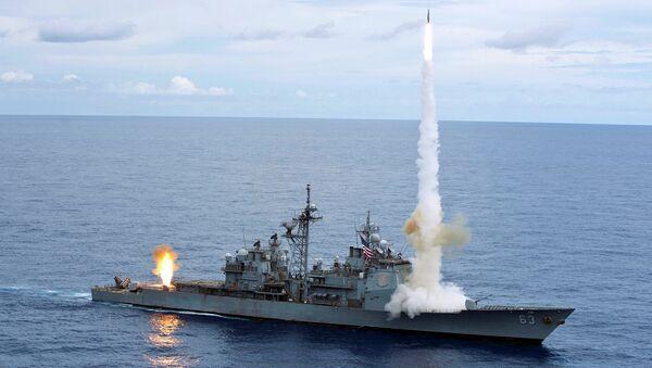 The Ticonderoga-class guided-missile cruiser USS Cowpens. - Sputnik International