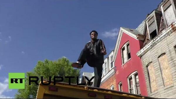 USA: Michael Jackson rocks Baltimore protest - Sputnik International