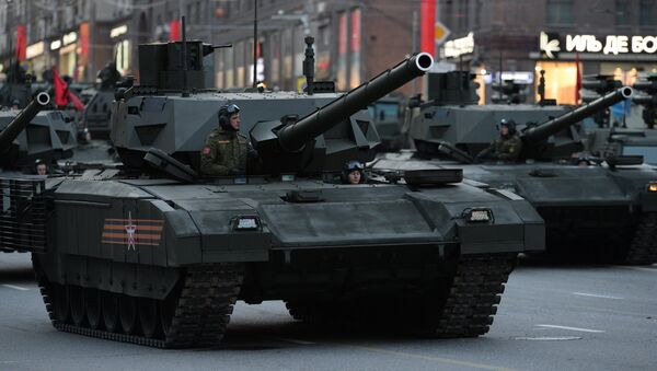 Armata T-14 during Victory Day Parade rehearsal in Moscow - Sputnik International