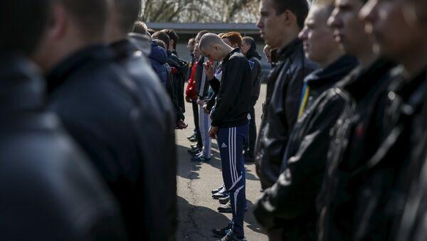 Ukrainian conscripts - Sputnik International