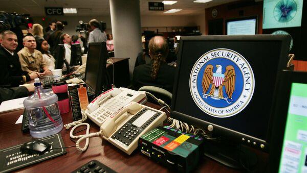 A computer workstation bears the National Security Agency (NSA) logo inside the Threat Operations Center inside the Washington suburb of Fort Meade, Maryland - Sputnik International
