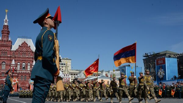 Final rehearsal of military parade to mark 70th anniversary of Victory in 1941-1945 Great Patriotic War - Sputnik International
