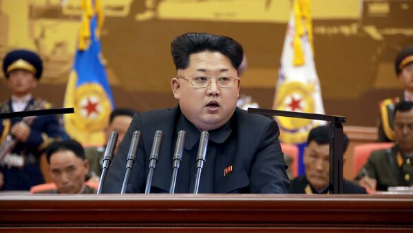 North Korean leader Kim Jong Un speaks during the 5th meeting of training officers of the Korean People's Army - Sputnik International