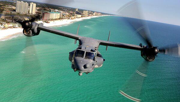 CV-22 Osprey Along the Coast - Sputnik International