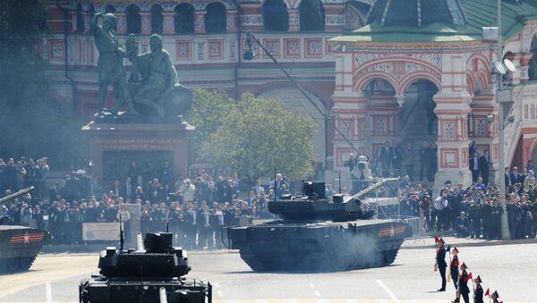 A T-14 tank with the Armata Universal Combat Platform at the military parade - Sputnik International
