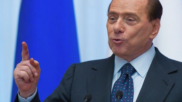 Russian President Dmitry Medvedev, Italian Prime Minister Silvio Berlusconi - Sputnik International