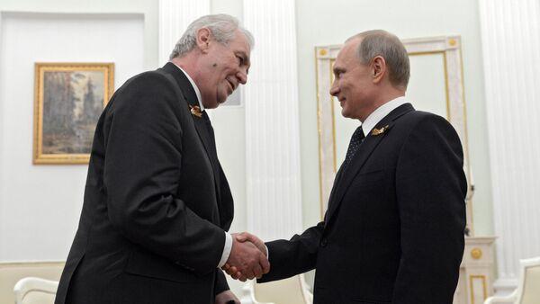 Russian President Vladimir Putin meets with President of Czech Republic Milos Zeman - Sputnik International