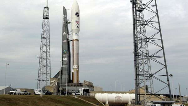 The US Air Force's X-37B Orbital Test Vehicle is attached to a United Launch Alliance Atlas V rocket at the Cape Canaveral Air Force Station in Florida. - Sputnik International