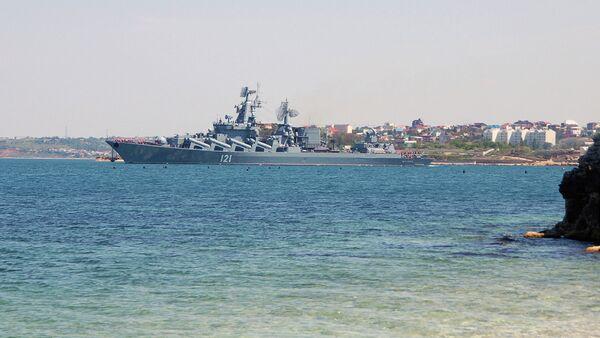 Guarded missile cruiser Moskva - Sputnik International