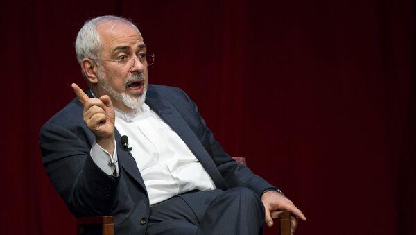Iranian Foreign Minister Mohammad Javad Zarif speaks at the New York University (NYU) Center on International Cooperation in New York - Sputnik International