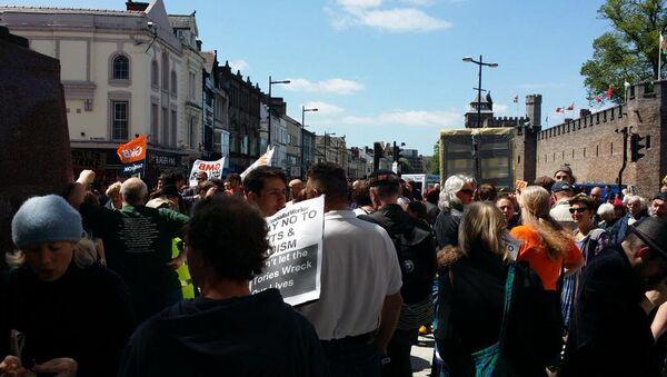 Anti-Austerity Protest in UK's Cardiff - Sputnik International