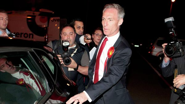 Scottish Labour Party leader Jim Murphy leaves the election count after failing to be re-elected as a member of parliament for East Renfrewshire in Scotland, Britain May 8, 2015 - Sputnik International