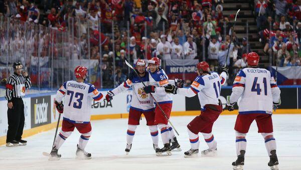 Hockey. The World Cup - 2015. USA - Russia - Sputnik International