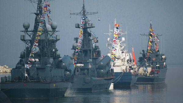 Navy Day parade rehearsal in Baltiysk - Sputnik International