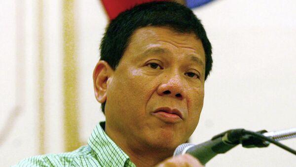 President Rodrigo Duterte, former Mayor  of the city of Davao - Sputnik International