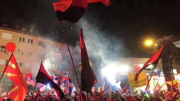 Mass protests in Macedonia - Sputnik International