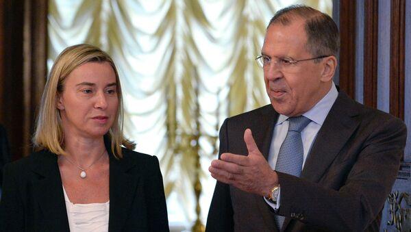 Sergei Lavrov and Federica Mogherini - Sputnik International