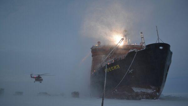 Russian polar explorers start setting up SP-40 drifting station - Sputnik International