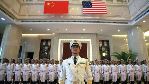 A military honor guard prepares for U.S. Chief of Naval Operations Adm. Jonathan Greenert's visit with Commander in Chief of the China's navy Adm. Wu Shengli - Sputnik International
