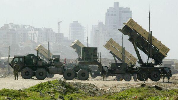 A US Patriot anti-missile battery is set up at a base in Jaffa, south of Tel Aviv, file photo - Sputnik International