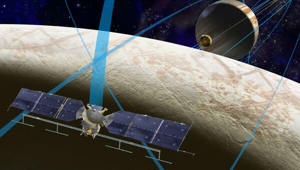 The NASA spacecraft set to pay a visit to Jupiter's icy moon, Europa, will use an array of instruments to assess its ability to support life, the agency announced Tuesday.  - Sputnik International