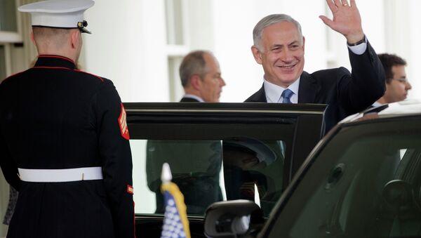 Israeli Prime Minister Benjamin Netanyahu waves as he exist the West Wing of the White House - Sputnik International