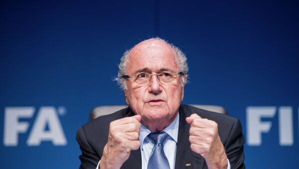 FIFA President Sepp Blatter is up for reelection to his post just one day after seven FIFA officials were arrested on charges of racketeering, bribery and wire fraud. - Sputnik International